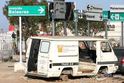 Valencia Grand Prix Pisti hazırlıkları