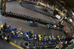 Drivers and media go-kart event: overall view