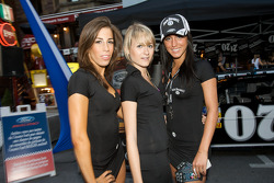 Ford street party on Crescent Street: charming Jack Daniel's girls