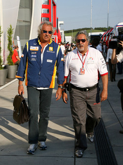 Flavio Briatore, Renault F1 Team, Team Chief, Managing Director, Vijay Mallya, Force India F1 Team, Owner and Kingfisher CEO