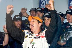 Victory lane: race winner Ron Fellows celebrates