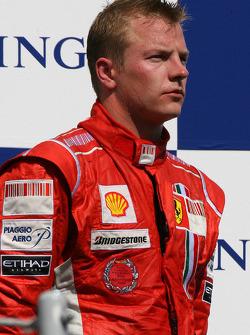 Podium: third place Kimi Raikkonen