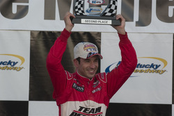 Victory lane: second place Helio Castroneves