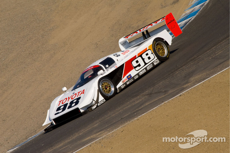 Ex-Formula 1 driver Timo Glock demonstrates the dominant IMSA car of the early '90s, the Toyota Eagle GTP MkIII, at Laguna Seca in 2011.