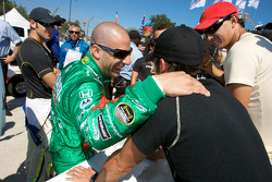 Tony Kanaan, Graham Rahal and Alex Tagliani share a laugh