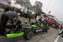 Car of Ernesto Viso is prepared for the practice session
