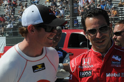 Scott Dixon and Helio Castroneves laughing