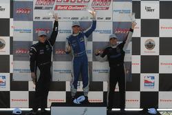 Randy Pobst on the podium with Andy Pilgrim and Brandon Davis