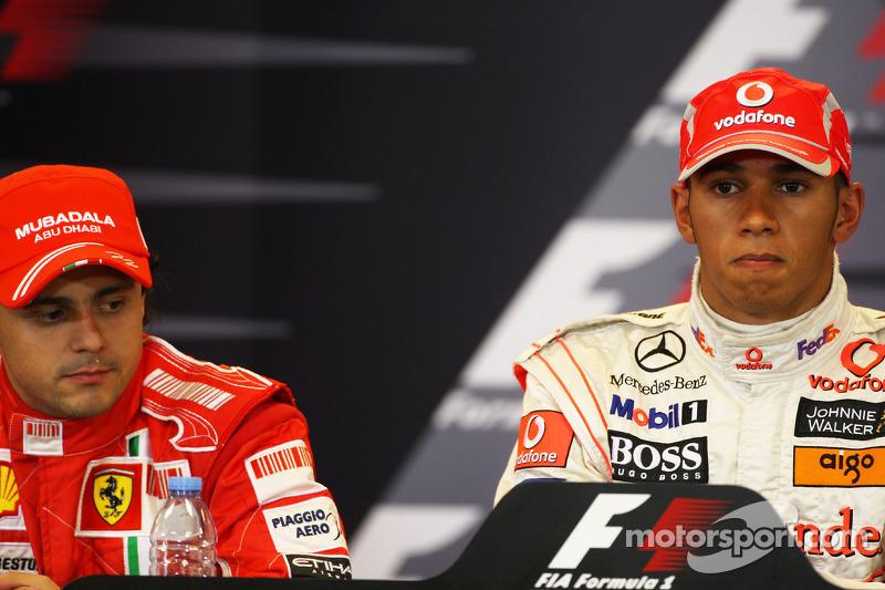 Post-qualifying press conference: pole winner Lewis Hamilton, second place Felipe Massa