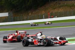 Lewis Hamilton, McLaren Mercedes, MP4-23 leads Felipe Massa, Scuderia Ferrari