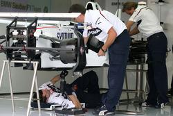 BMW Sauber F1 Team mechanics