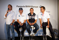 BBQ at FBMW Hospitality: Nico Rosberg, WilliamsF1 Team, Robert Kubica,  BMW Sauber F1 Team Christian Klien, Test Driver, BMW Sauber F1 Team, Dr. Mario Theissen, BMW Sauber F1 Team, BMW Motorsport Director