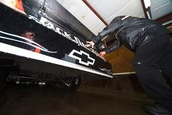 The Jack Daniels Chevrolet receives last minute changes