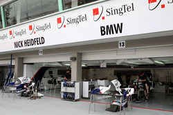 The pit garage of BMW Sauber F1 Team