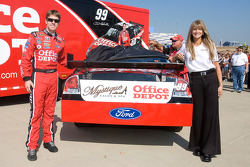 Julie Catalano's Mystique Salon and Spa will be displayed on the tv panel of Carl Edward's #99 Offcie Depot Ford at Kansas Speedway