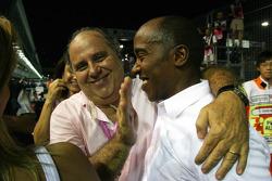Luis Antonio Massa, Father of Felipe Massa and Anthony Hamilton, Father of Lewis Hamilton