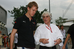 Sebastian Vettel, Scuderia Toro Rosso and Bernie Ecclestone, President and CEO of Formula One Management