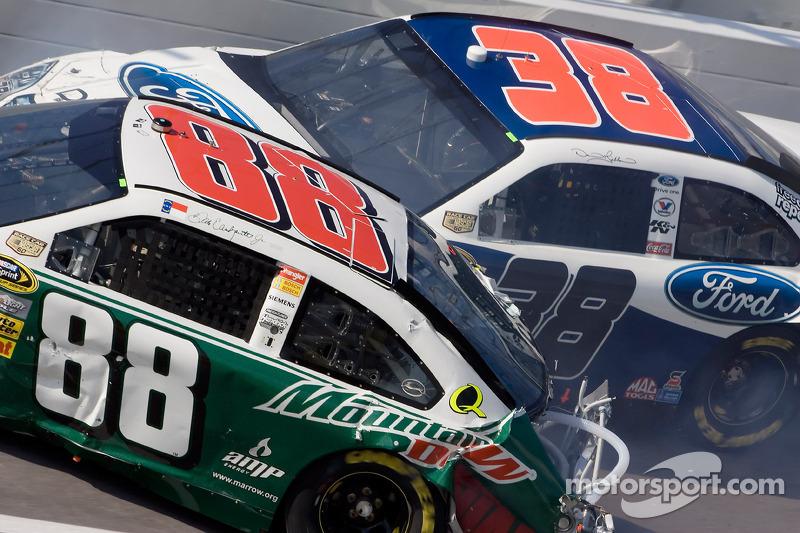 Herbst 2008: Crash mit Dale Earnhardt Jr. und David Gilliland