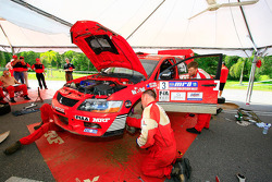 Scott Pedder's Mitsubishi Lancer Evo 9 of MRF Tyres Rally Team