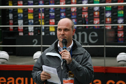 The podium; Zolder press officer