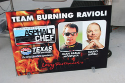 Juan Pablo Montoya is teamed with Mario Batali as