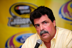 NASCAR President Mike Helton speaks with the media about the 2009 testing policy
