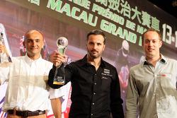 WTCC 2008 champion Yvan Muller, second place Gabriele Tarquini, third place Robert Huff