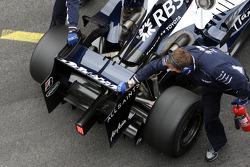 Nico Rosberg, WilliamsF1 Team, Interim 2009 car, detail