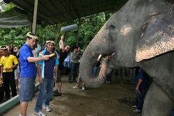Loic Duval at the Gandah Elephant Orphanage