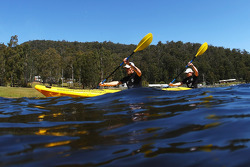 Launceston, Australia: Mark Webber and Emma Weitnauer in training