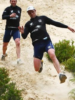 Port Arthur, Australia: Leigh Colbert and Glenn Archer in action