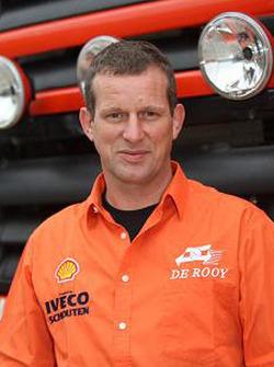 l'équipe de Rooy: Hugo Duisters, pilote du camion de rally #519