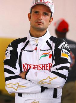Vitantonio Liuzzi, Test Driver, Force India F1 Team and Jeff Gordon, NASCAR driver