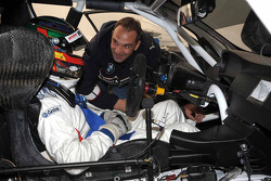 l'équipe BMW Rahal Letterman fait des tests : Andy Priaulx et Jorg Muller