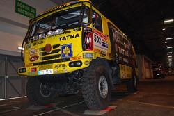 Loprais Tatra Team race truck at scrutineering