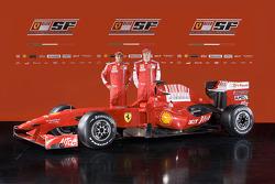 Felipe Massa and Kimi Raikkonen with the new Ferrari F60