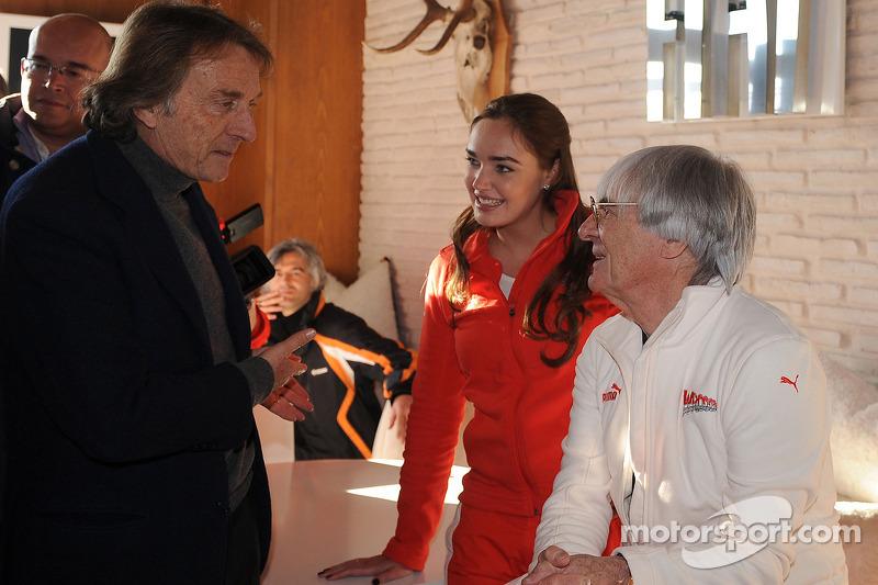 Luca di Montezemolo, Tamara Ecclestone and Bernie Ecclestone