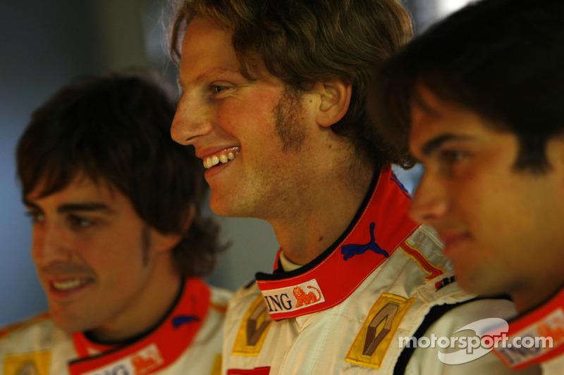 Fernando Alonso, Romain Grosjean ve Nelson A. Piquet