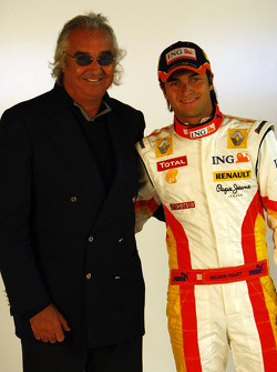 Flavio Briatore and Nelson A. Piquet