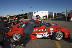 #64 JLowe Racing Porsche GT3 at technical inspection