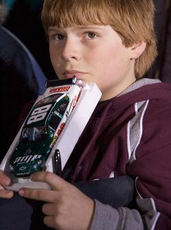 A young Dale Earnhardt Jr. fan