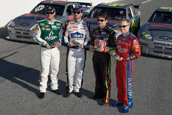 Hendrick Motorsports' 25th anniversary season car unveiling event: Dale Earnhardt Jr., Jimmie Johnson, Jeff Gordon and Mark Martin