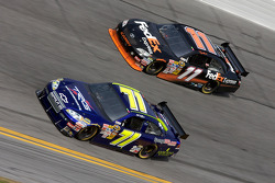 Mike Wallace, TRG Motorsports Chevrolet, Denny Hamlin, Joe Gibbs Racing Toyota