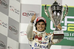 Podium: second place Sergio Perez
