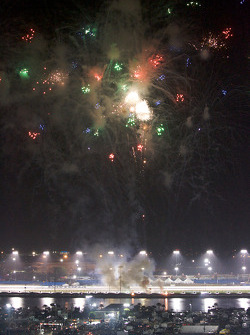 Post-race fireworks