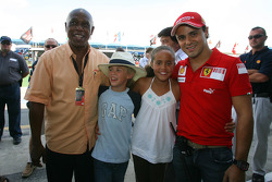 Tokyo Sexwale, Seat Holder A1 Team South Africa and Felipe Massa