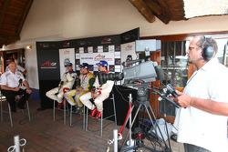 Press conference: race winner Neel Jani, second place Felipe Guimaraes, third place Clivio Piccione