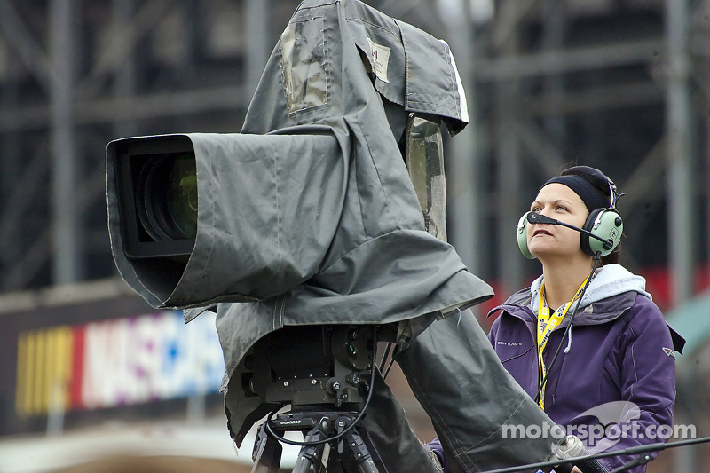 TV crews broadcast the events