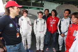 Alex Zanardi, BMW Team Italy-Spain meets the Formula BMW Americas drivers
