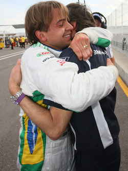 Augusto Farfus, BMW Team Germany and Charly Lamm, GER, Team Manager, BMW Team Germany / Schnitzer Motorsport celebrating the pole
